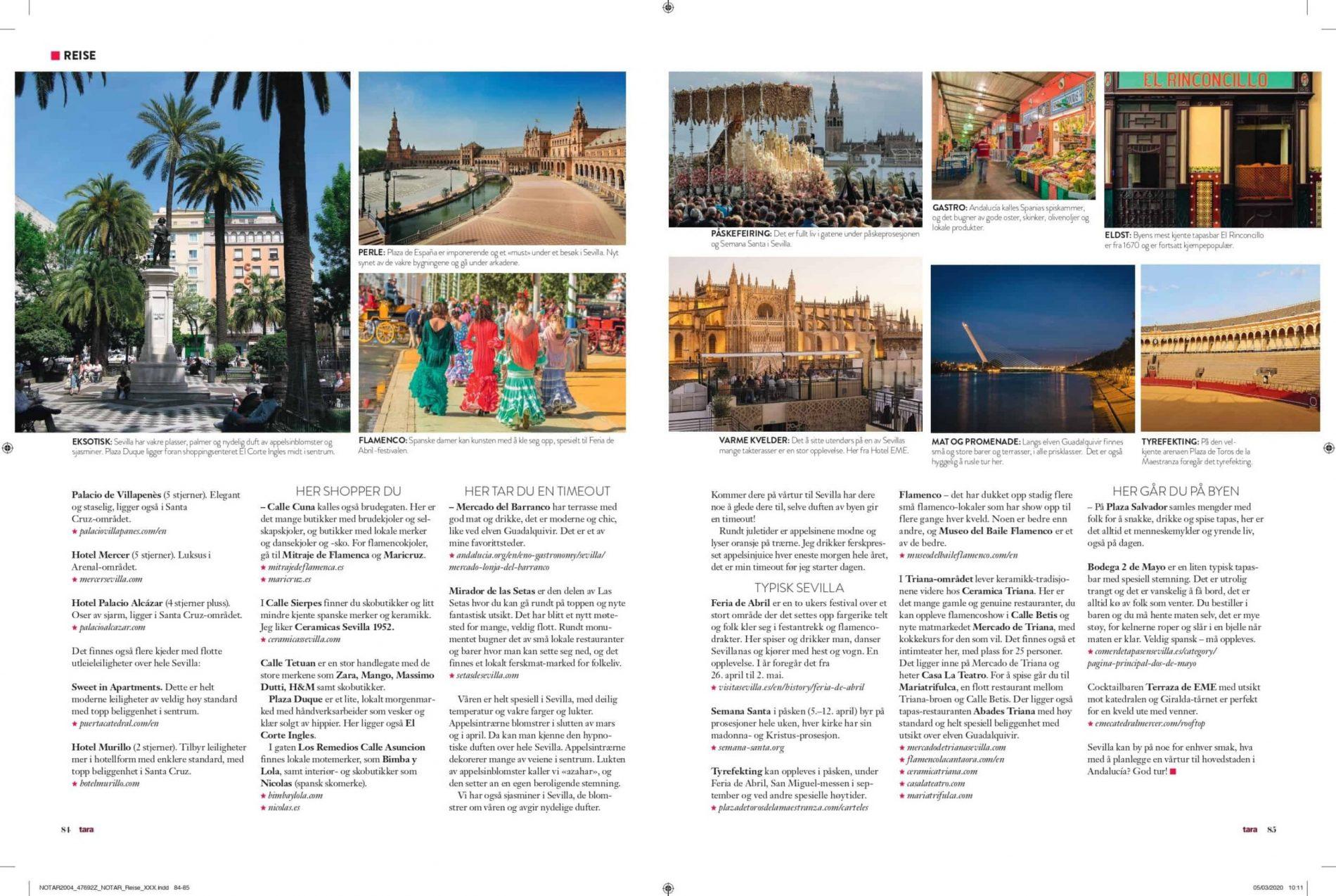 Tara Magasin reiseartikkel om hotel, mat, opplevelser